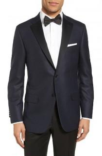 wedding photo - Hickey Freeman Classic Fit Wool & Silk Dinner Jacket