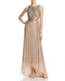 wedding photo - Adrianna Papell Sleeveless Beaded Cutout Gown