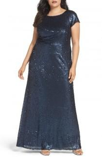wedding photo - Adrianna Papell Sequin A-Line Gown (Plus Size)