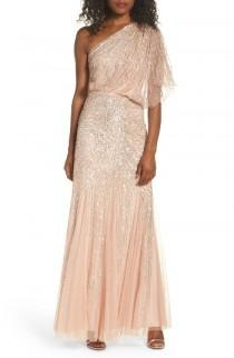 wedding photo - Adrianna Papell Sequin One-Shoulder Gown
