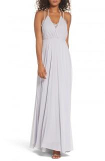 wedding photo - Lulus Celebrate the Moment Lace Trim Chiffon Maxi Dress