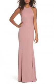 wedding photo - Watters Mical Bellessa Stretch Crepe Gown