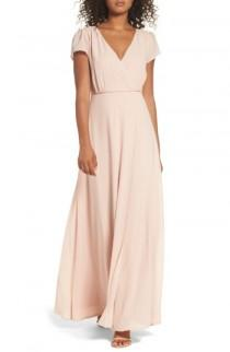 wedding photo - Lulus Lace-Up Back Chiffon Gown