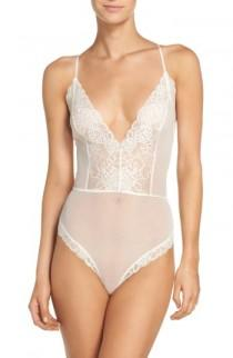 wedding photo - Chelsea28 Lacy Days Sheer Bodysuit