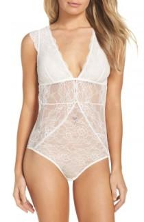 wedding photo - Sam Edelman Stretch Lace & Mesh Bodysuit