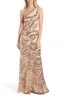 wedding photo - Vince Camuto Sequin One-Shoulder Gown