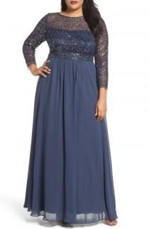 wedding photo - DECODE 1.8 Embellished A-Line Chiffon Gown (Plus Size)