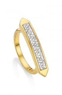 wedding photo - Monica Vinader Baja Skinny Diamond Stacking Ring