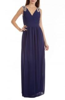 wedding photo - TFNC Debbie Embellished Pleated Chiffon Gown