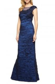 wedding photo - Alex Evenings Embellished Illusion Shirred Gown