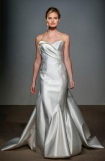 wedding photo - Anna Maier Couture Daryl Asymmetrical Seam Satin Mermaid Gown