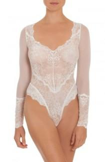 wedding photo - In Bloom by Jonquil Thong Lace Teddy