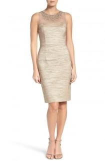 wedding photo - Eliza J Metallic Sheath Dress