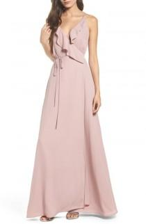 wedding photo - WAYF Jamie Ruffle Wrap Gown