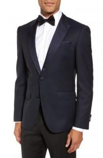 wedding photo - BOSS Helward Trim Fit Wool Dinner Jacket