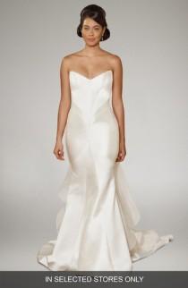 wedding photo - Matthew Christopher Arya Strapless Silk Trumpet Gown