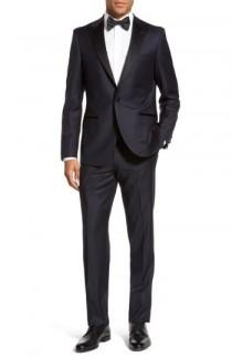 wedding photo - Strong Suit 'Aston' Trim Fit Solid Wool Tuxedo
