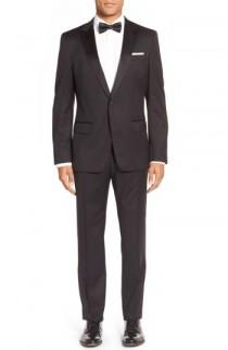 wedding photo - BOSS Trim Fit Wool Tuxedo