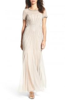 wedding photo - Adrianna Papell Beaded Mesh Gown (Regular & Petite)