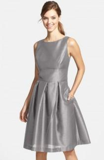 wedding photo - Alfred Sung Dupioni Fit & Flare Dress