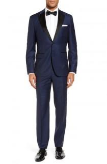 wedding photo - BOSS Jelvan/Livan Trim Fit Wool & Silk Tuxedo