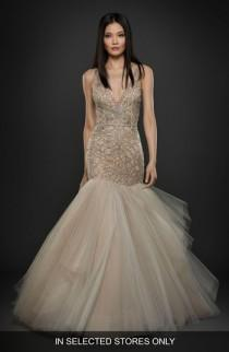 wedding photo - Lazaro Embellished Trumpet Gown