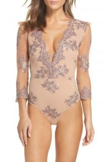 wedding photo - For Love & Lemons Amber Bodysuit