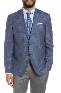 wedding photo - Ted Baker London Jay Trim Fit Check Wool Sport Coat