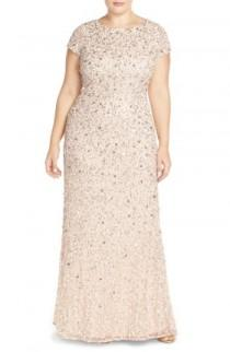wedding photo - Adrianna Papell Embellished Scoop Back Gown (Plus Size)