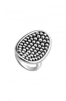 wedding photo - LAGOS Bold Caviar Vertical Ellipse Ring