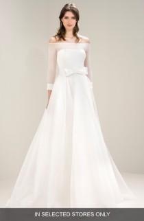 wedding photo - Jesús Peiró Off the Shoulder Bow Waist Gown