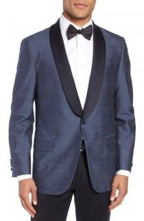 wedding photo - Hickey Freeman Classic B Fit Silk Dinner Jacket