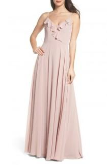 wedding photo - Hayley Paige Occasions Ruffle Chiffon Gown