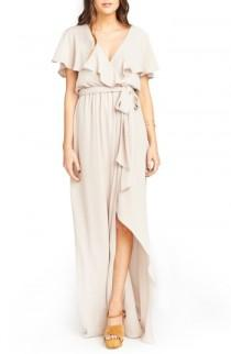 wedding photo - Show Me Your Mumu Audrey Ruffle Wrap Front Gown
