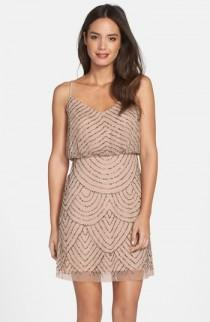 wedding photo - Adrianna Papell Sequin Mesh Blouson Dress
