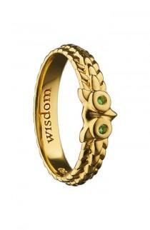wedding photo - Monica Rich Kosann Wisdom Owl Ring
