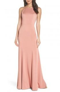 wedding photo - Jenny Yoo Naomi Luxe Crepe Halter Gown