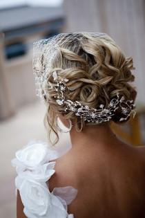 wedding photo -  Gorgeous Wavy Updo Wedding Hair