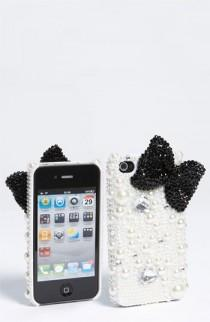 wedding photo -  Tasha Bow & Pearl iPhone Case ♥ Cute Bow iPhone Case | Taslar ve Incilerle Suslu iPhone Kilifi