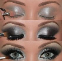 wedding photo - Metallic Gray Smokey Eye Makeup Photo Tutorial