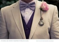 wedding photo - Boutonniere Boutonniere ♥ Vintage único para novio