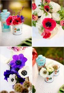 wedding photo - Anemones Arrangements