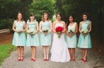wedding photo - Demoiselles d'honneur Robes Aqua
