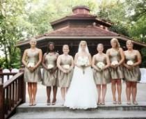wedding photo -  Elegant Gold And White Missouri Wedding