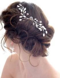 wedding photo - Gorgeous Messy Side Bun Wedding Hair