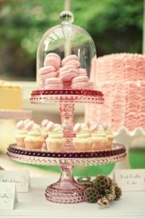 wedding photo - Yummy Hommade Wedding Cupcakes ♥ Pink Wedding Macarons