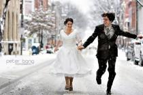 wedding photo - Idée Photographie de mariage d'hiver} Kis Dugunu Fotograflari