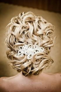 wedding photo -  Sleek Wedding HairStyles ♥ Wedding Wavy Updo Hairstyle