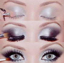 wedding photo - Maquillage Best Wedding ♥ Argent Smokey Maquillage des yeux mariage