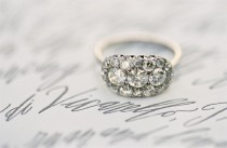wedding photo - Antique Wedding Ring ♥ Vintage Wedding Ring